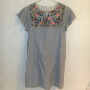 🏷NWT🏷 Main Strip Embroidered Tunic Dress